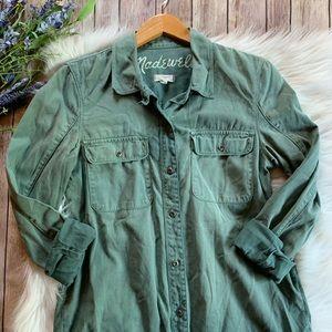 Madewell | Tomboy Work Shirt Army Green